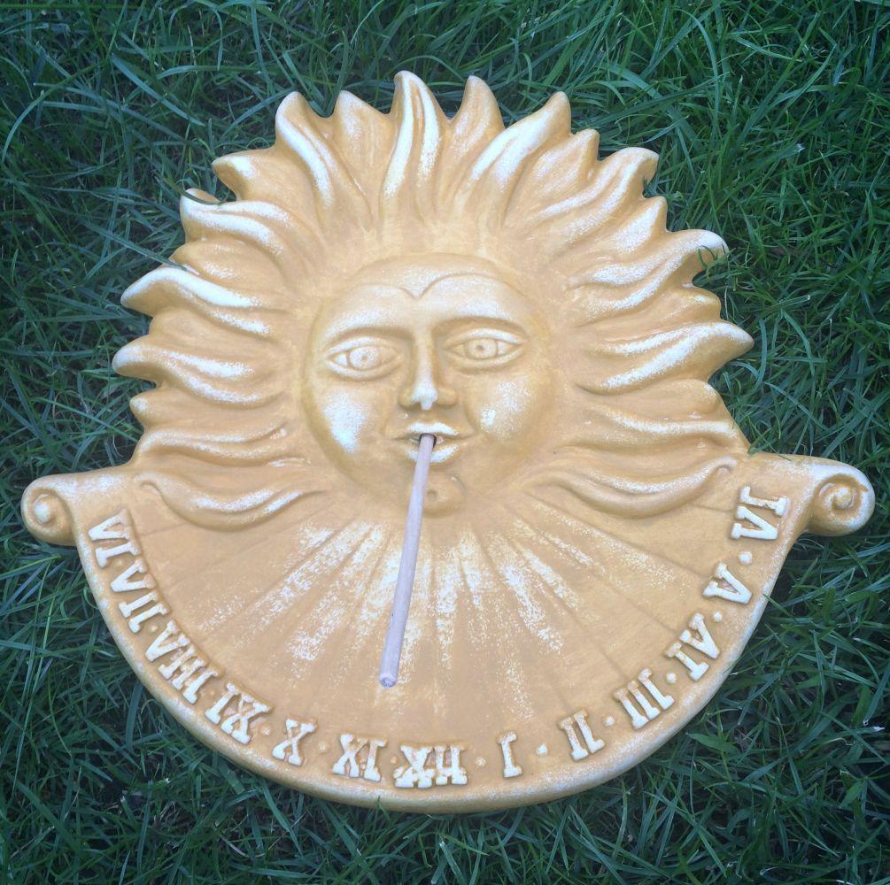 Keramické sluneční hodiny Žluté L