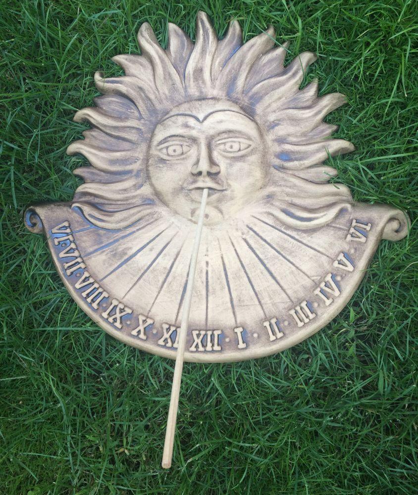 Keramické sluneční hodiny Hnědé L