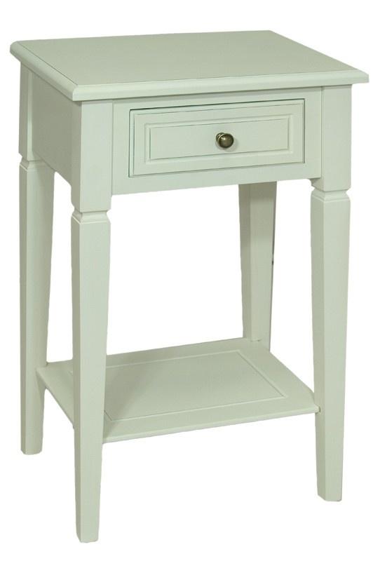Dřevěný noční stolek bílý