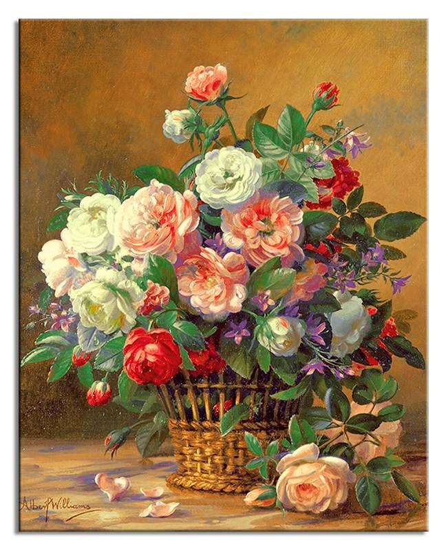 Obraz na zeď Růže v košíku