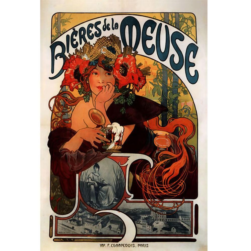 Obraz na zeď Alfons Mucha Bieres de la Meuse