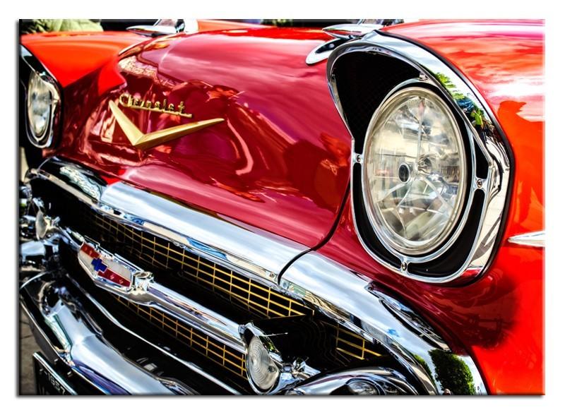 Obraz na zeď - červené auto Chevrolet