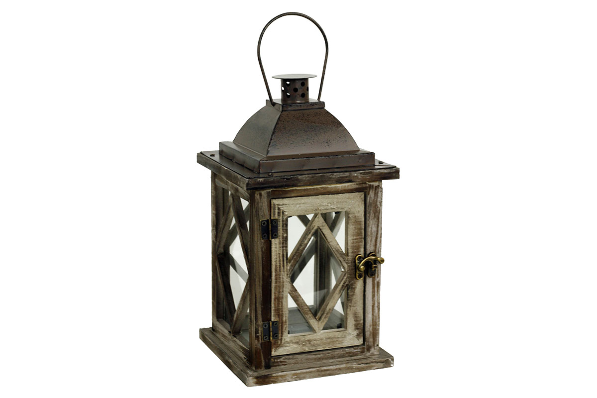 Dřevěná lucerna Antik