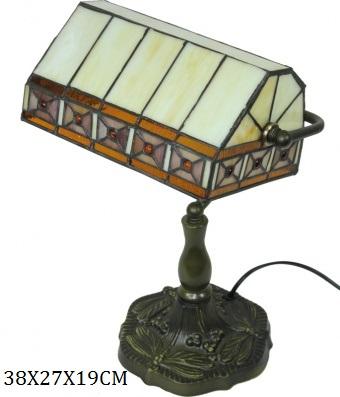 Stolní vitrážová kancelářská lampa styl Tiffany Geom