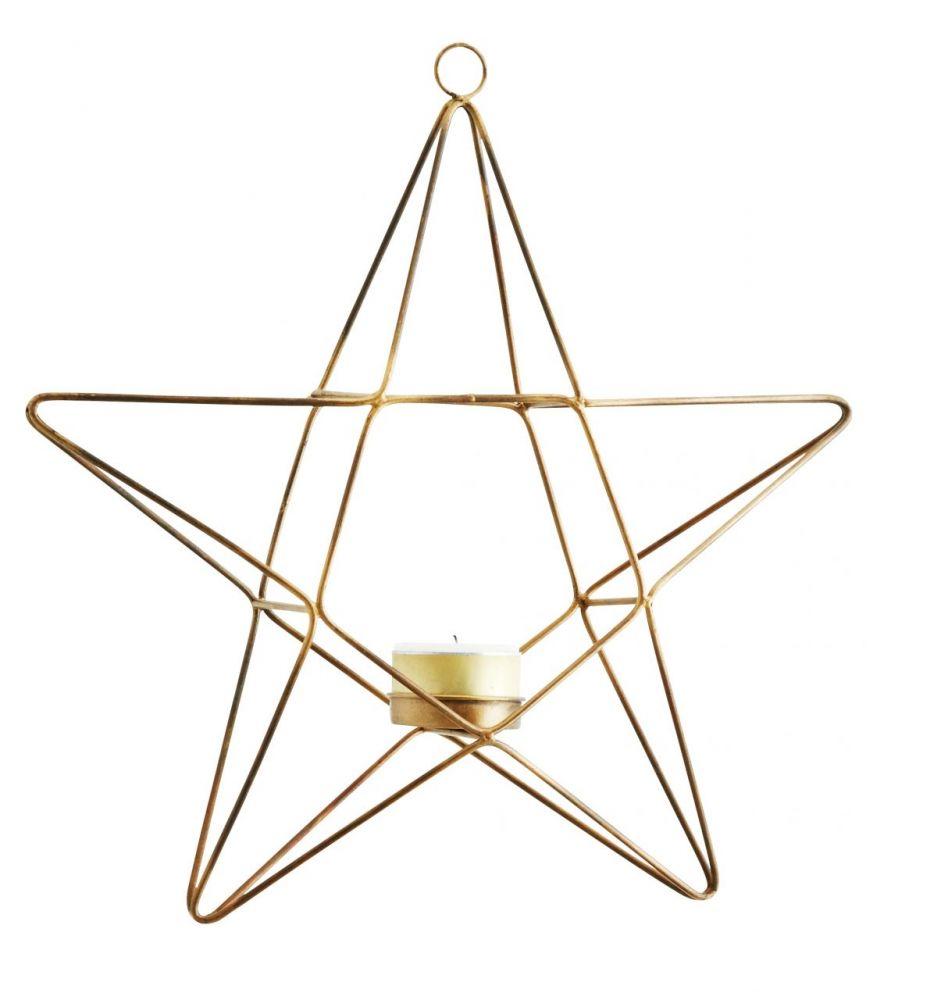 Kovový závěsný svícen Star - Hvězda