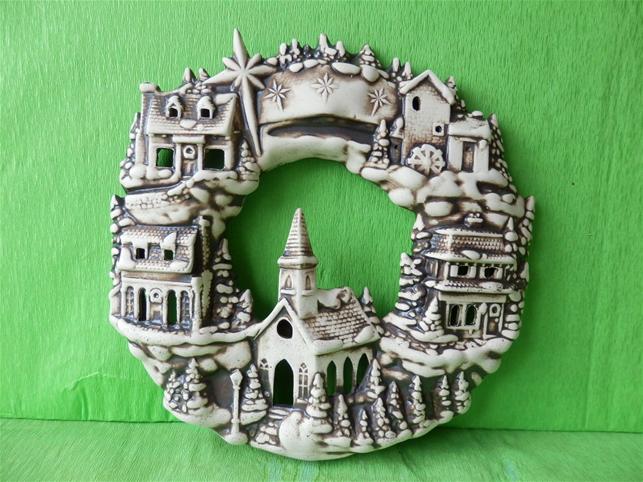 Keramika na zeď Věnec Městečko - natural