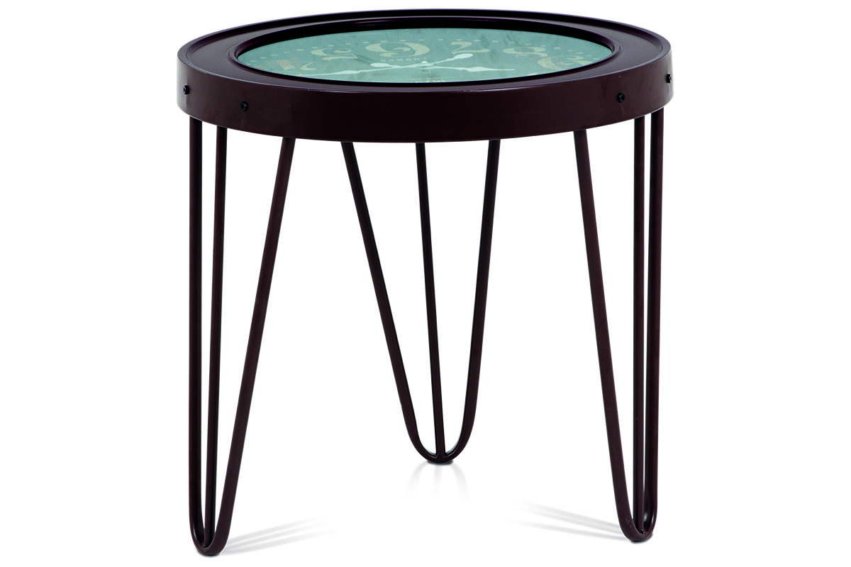 Kovový stolek s hodinami Bond street