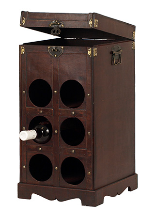 Dřevěný box na 6 lahví