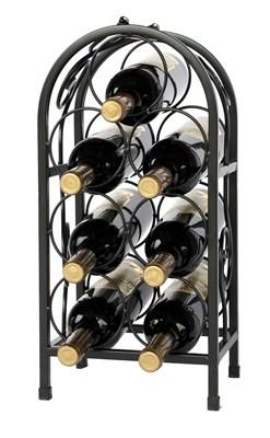 Kovový stojan na 7 lahví bronzový