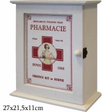 Dřevěná skříňka - Lékárnička Pharmacie na zeď