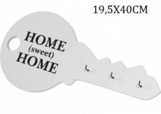 Dřevěný věšák na klíče - Home sweet home