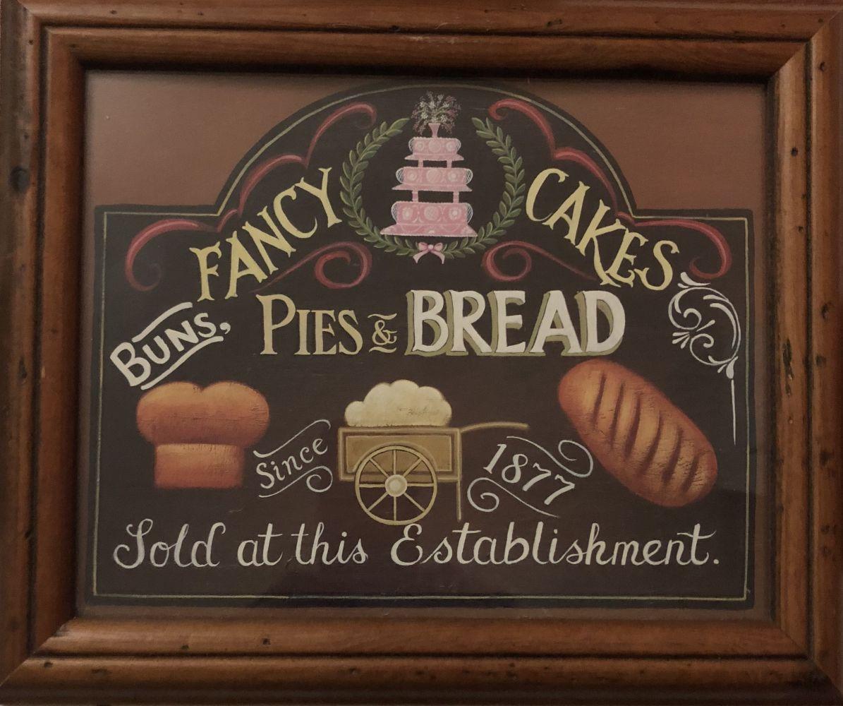 Obrázek na zeď v dřevěném rámu Fancy Cakes