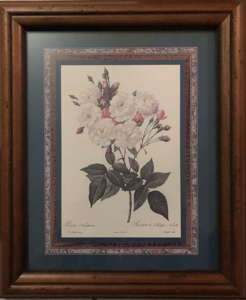 Obrázek na zeď v dřevěném rámu Růže