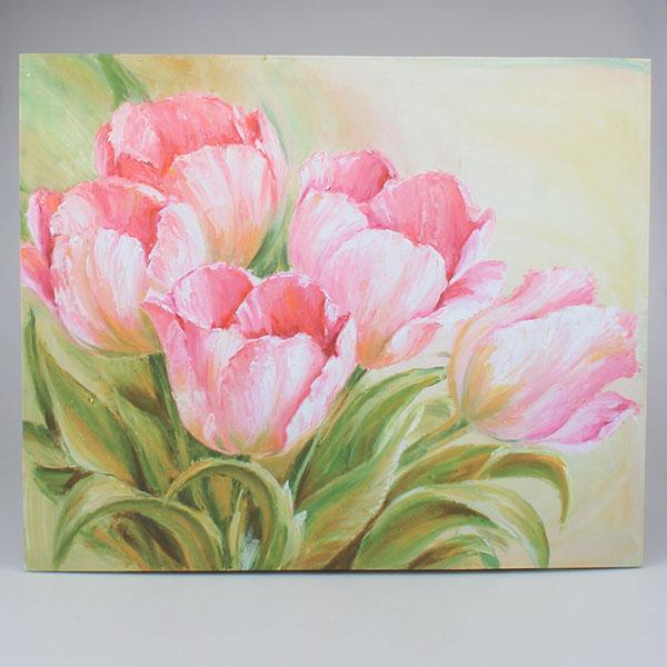Obraz Tulipány růžové Five