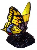 Stolní vitrážová lampa styl Tiffany Motýl Yelow