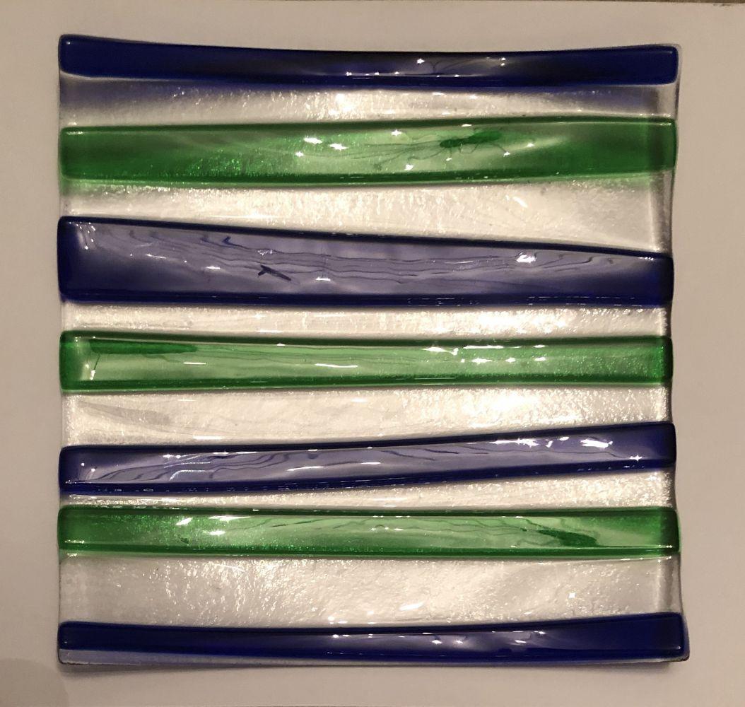 Skleněná mísa Sabrina modro-zelená