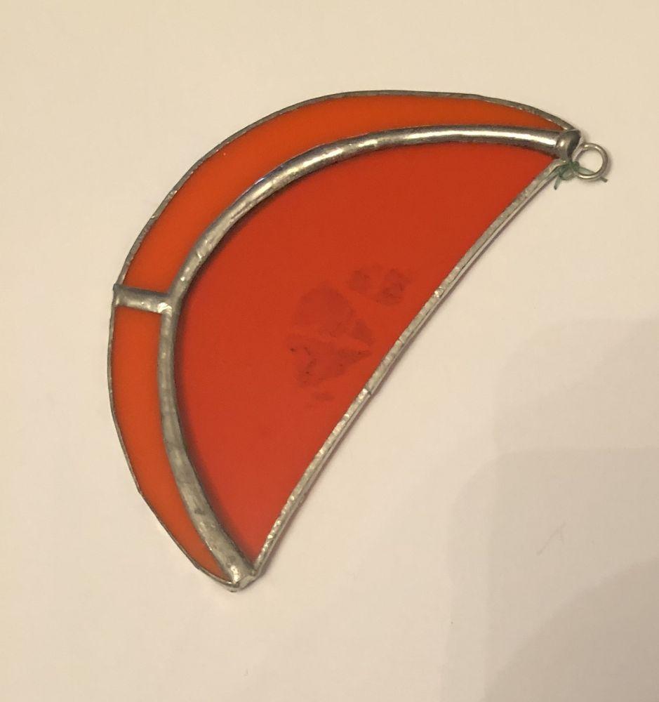 Závěsná skleněná vitráž Pomeranč