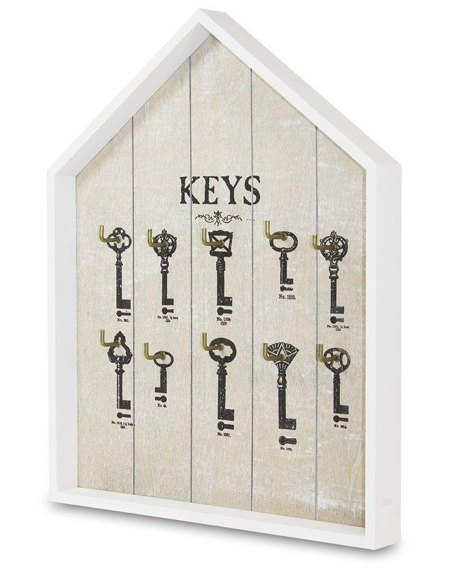 Dřevěný věšák na klíče - Keys Domek