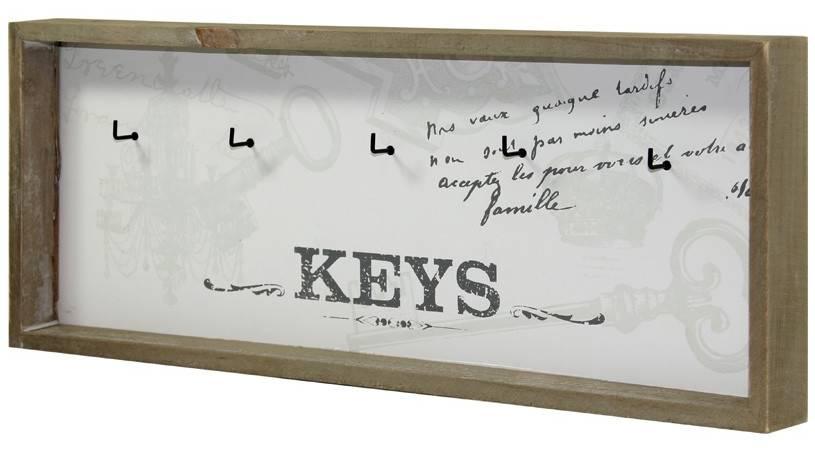 Dřevěný věšák na klíče - Keys písmo