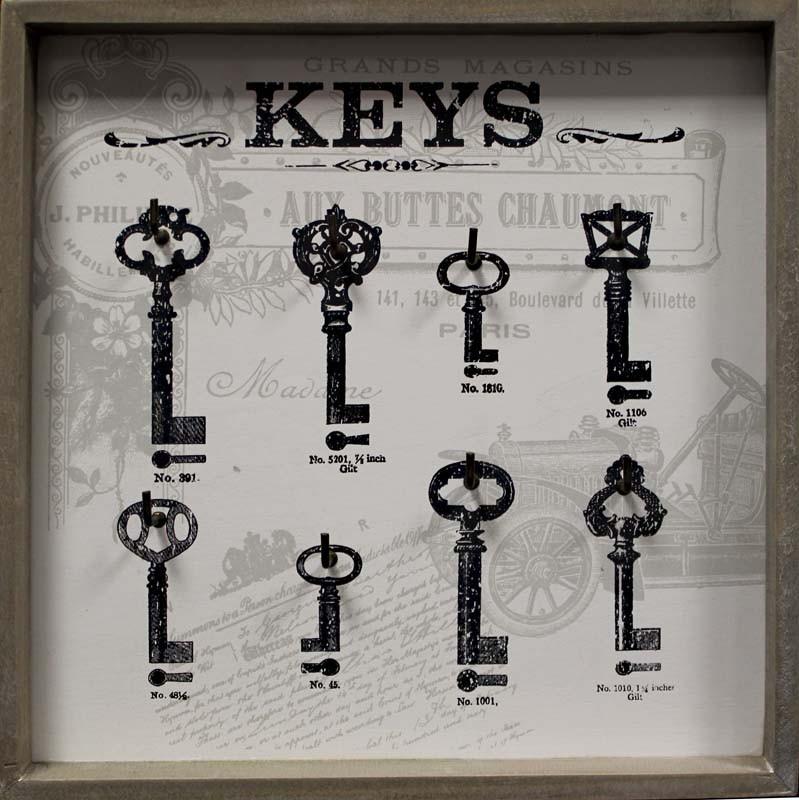 Dřevěný věšák na klíče - Keys car natural