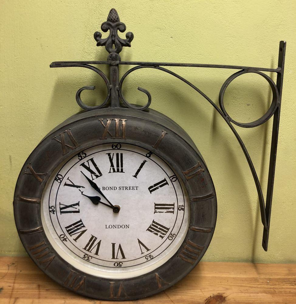 Kovové nádražní hodiny Maxi