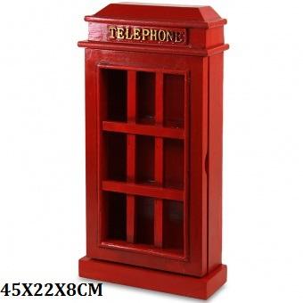 Skříňka na klíče - Telefonní budka