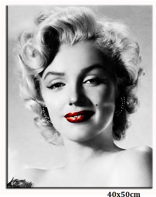 Obraz Marilyn Monroe - rudé rty úsměv ramena