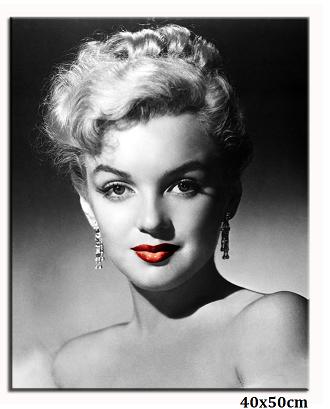 Obraz Marilyn Monroe - rudé rty pohled
