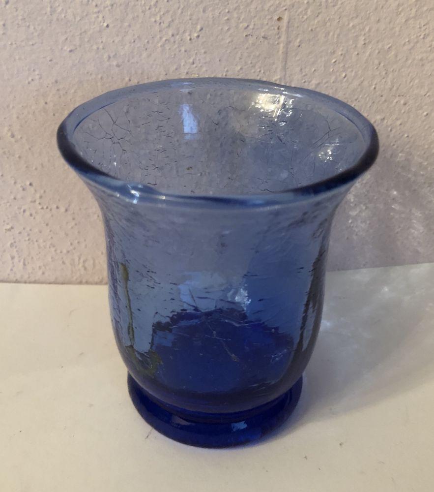 Skleněný svícen Blue vadný