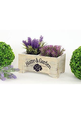 Dřevěný truhlík - Home garden