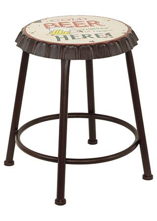 Kovová stolička Uzávěr od láhve Cold beer here