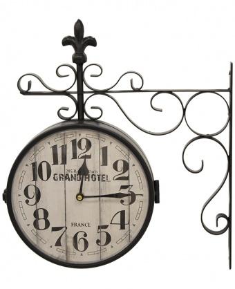 Kovové nádražní hodiny Grand hotel France - prodáno