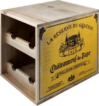 Dřevěný stojan na víno 4 bedna Chateauueuf du Pape