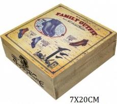 Dřevěná skříňka na pomůcky pro boty na krémy