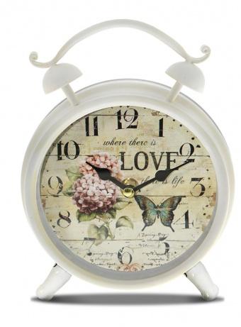 Velký retro budík Hortenzie Love