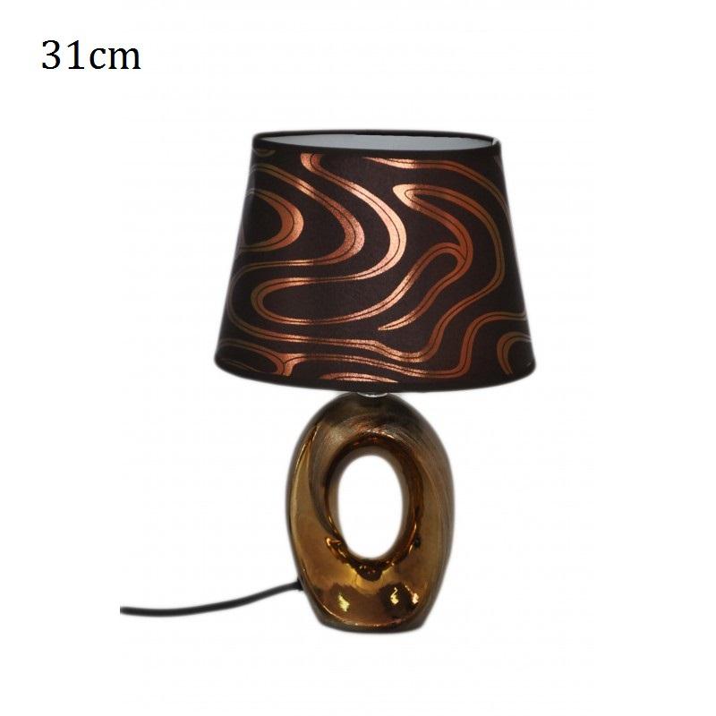 Stolní keramická lampa se stínidlem Oval