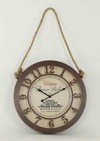 Plechové vintage hodiny na zeď Chateau Bordeaux