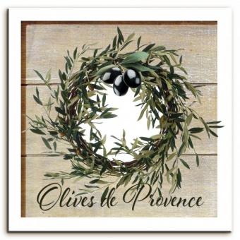 Obraz na plátně Olivy věneček s olivami