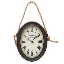 Plechové vintage hodiny na zeď Paris