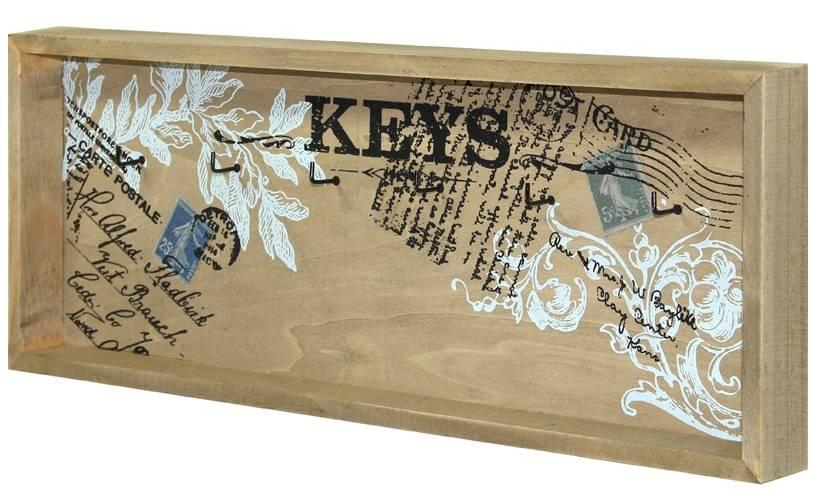 Dřevěný věšák na klíče - Keys post