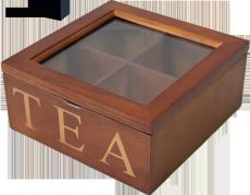 Dřevěná skříňka - na čaj Tea wood quater