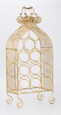 Kovový stojan na 12 lahví Barok zlatá