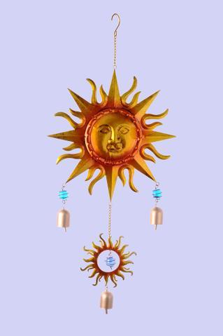 Kovová zvonkohra Sluníčko zlaté