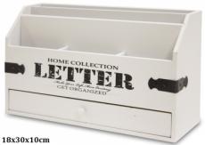 Dřevěný stojan na dopisy Letter
