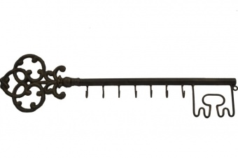 Kovový věšák Klíč