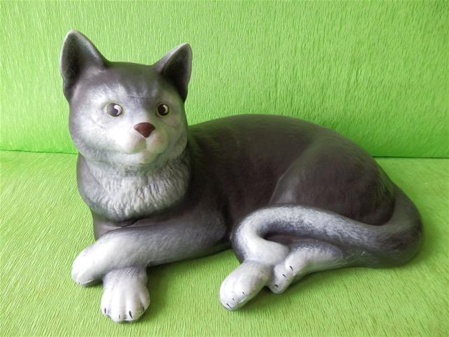 Keramická Kočka domácí color