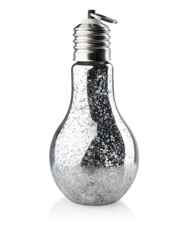 Žárovka Led světlo - světelná dekorace stříbrná