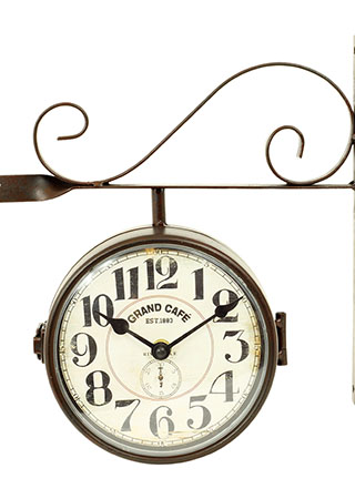 Kovové nádražní hodiny Grand Cafe