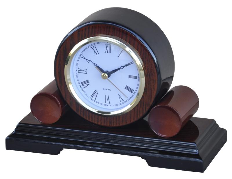 Dřevěné krbové hodiny Duo