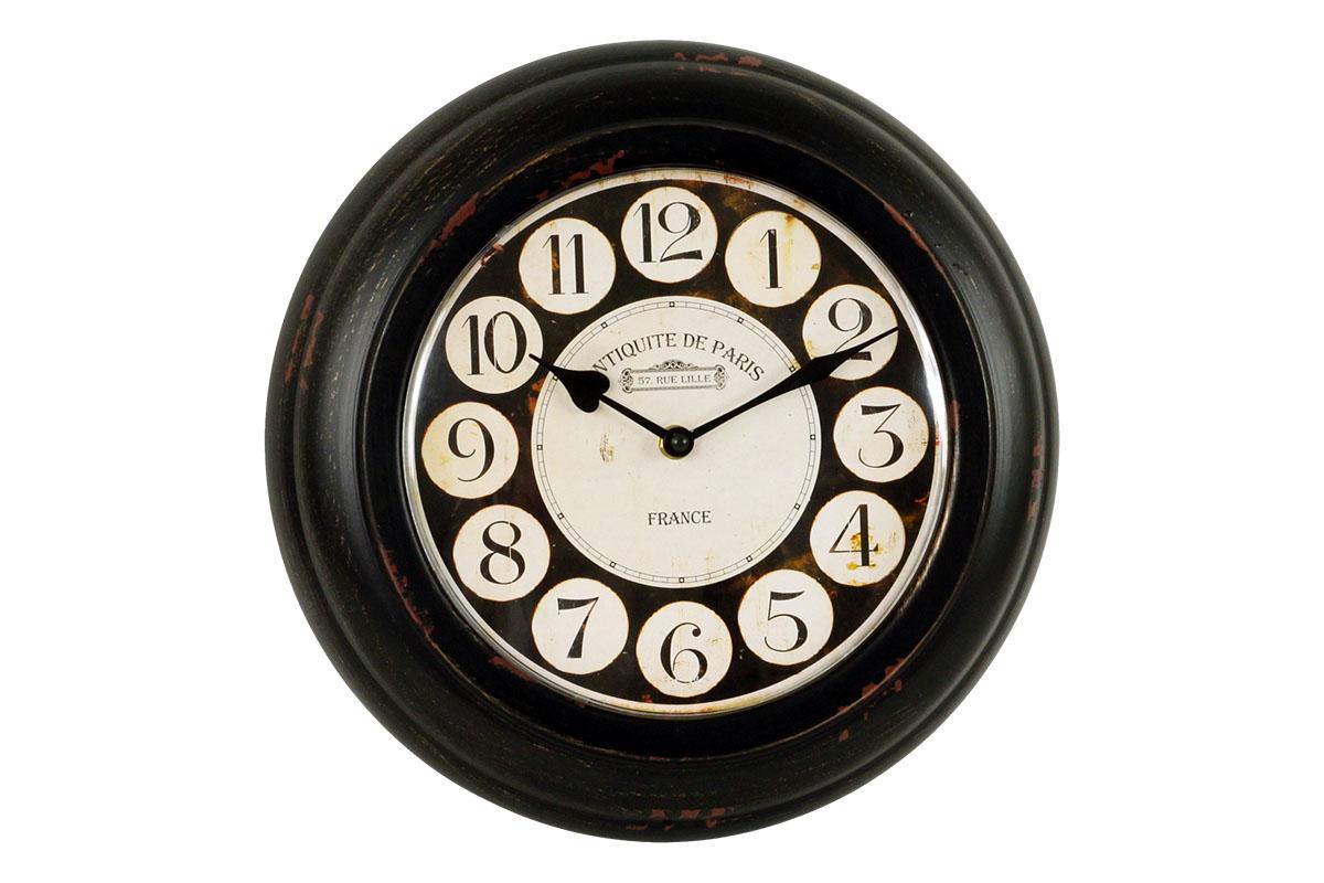 Plechové vintage hodiny na zeď Antiquite Paris